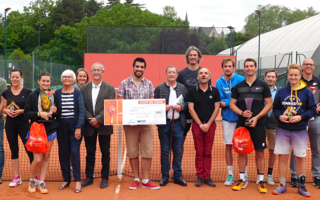 Un tournoi de tennis au bénéfice de nos actions