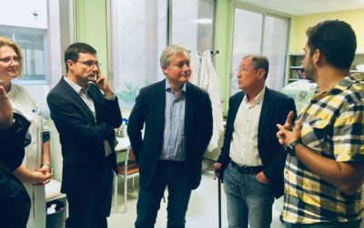 Laurent Henart et la direction du CHRU à la rencontre des associations de l'hôpital d'enfants