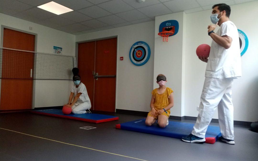 Retour des ateliers ETP avec du nouveau matériel de sport à l'hôpital